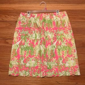 Lily Pulitzer Pink and Green Summer Skirt